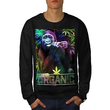 Organic Cannabis Rasta Men XXXXXXXL Sweatshirt | Wellcoda