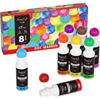 Washable Dot MarkersMagicfly 8 Colors Non-Toxic Paint Marker for Kids Toddlers Preschool Art Supply