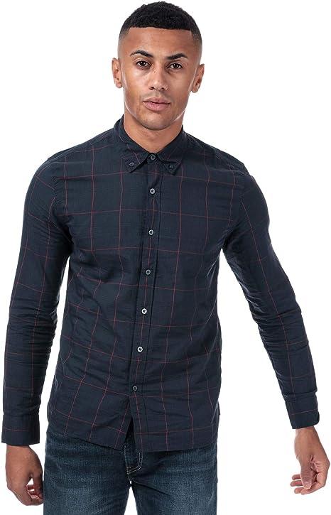 Camisa Levis Pacific Check Azul Hombre S Marino: Amazon.es: Ropa y accesorios