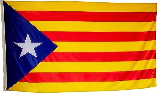 Bandera Independentista Catalana Grande Exterior de Tela Fuerte ...