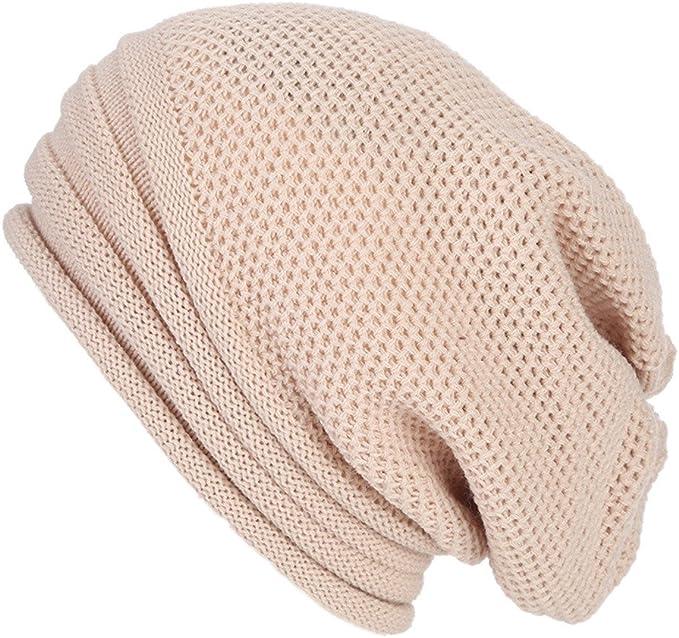JiaMeng Mujer Sombreros de Invierno Gorro Baggy Crochet Invierno ...