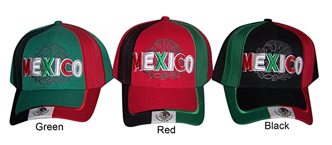 49011f1079f Mexico Mexican Baseball Caps Hats Embroidered (CapMx78 Z) (Green) at ...