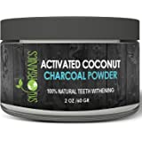 Sky Organics Teeth Whitening Activated Coconut Charcoal Powder (2oz) - Natural Teeth Whitening with No Sensitivity- For a Whiter & Brighter Smile