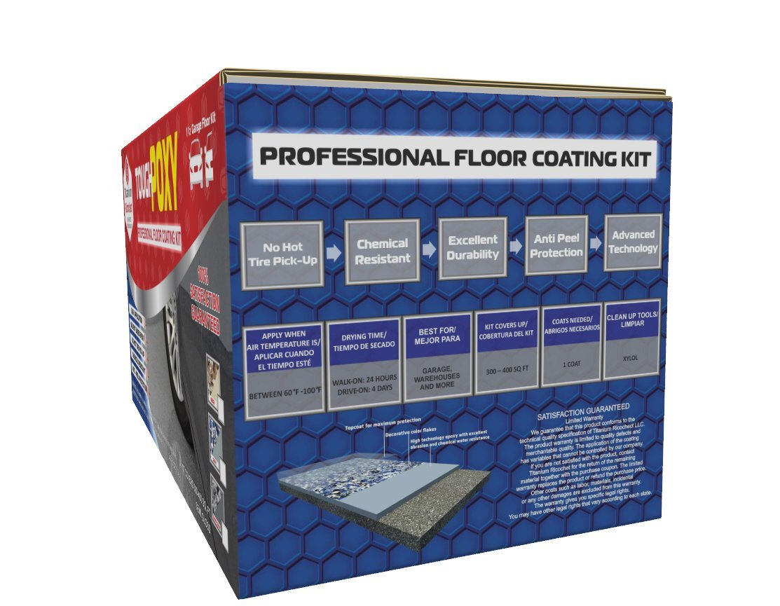 Amazon.com: ToughPoxy - Semi Gloss Professional Floor Coating Kit - Beige: Home Improvement