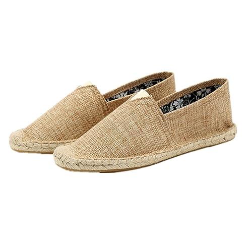 8d8e8d949a6 Zapatos Hombre Mocasines Zapatos para Hombre Alpargatas primaverales Zapatos  de Lona para Hombres Hombres Mocasines Respirables Deslizamiento para Hombre:  ...