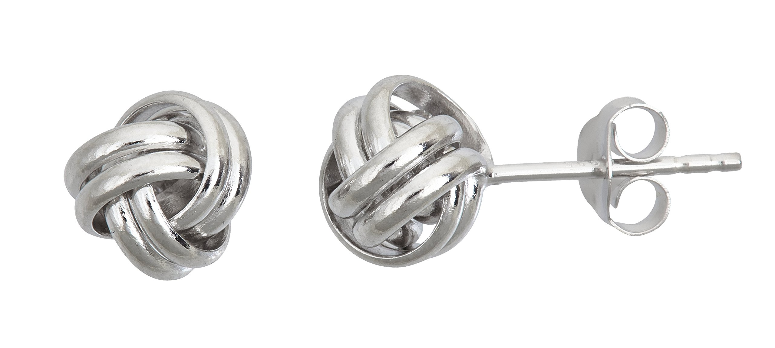 Decadence Unisex Adult Sse458 Sterling Silver 6MM Love Knot Stud Earrings, One Size