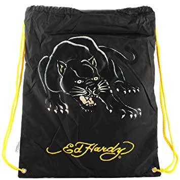 0f7e399ea4c7 Ed Hardy Drew Drawstring Panther Bag -Black  Amazon.in  Bags ...