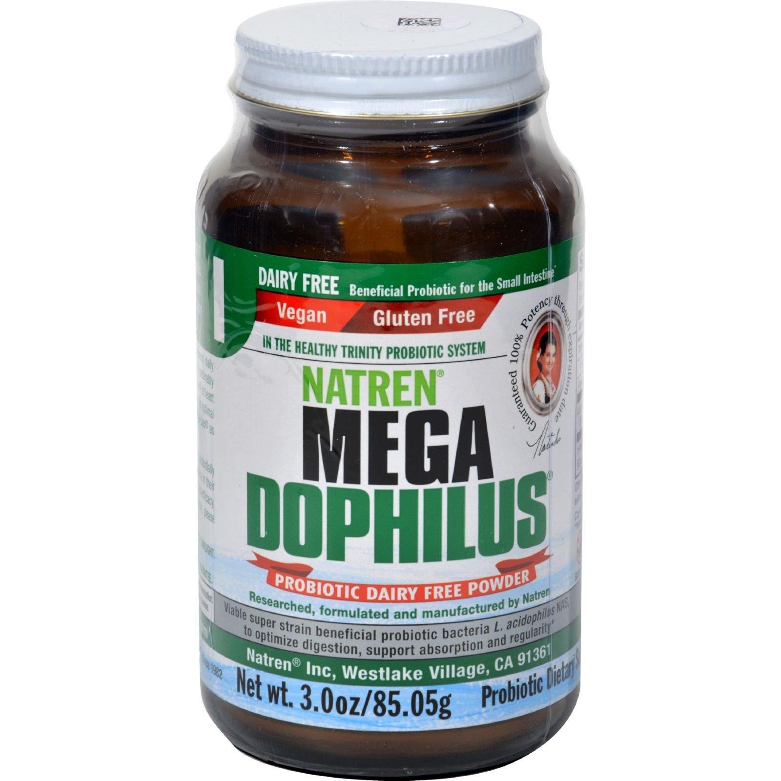 Natren Mega Dophilus - Probiotic Dairy -Free Powder - Vegan - 3 Ounce (Pack of 4)