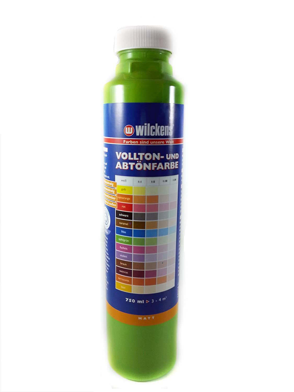 Qualitä ts Abtoenfarbe - Volltonfarbe / 750 ml/matt - 14 Farben zur Auswahl (Apfelgrü n) Wilckens