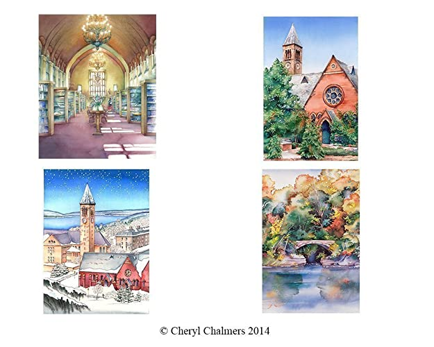 Amazon note cards of cornell university ithaca ny watercolors note cards of cornell university ithaca ny watercolors fine art prints original m4hsunfo