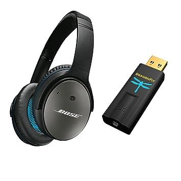 Cancelación de Ruido acústica Bose QuietComfort 25 Auriculares de Diadema para Dispositivos Apple, Negro &