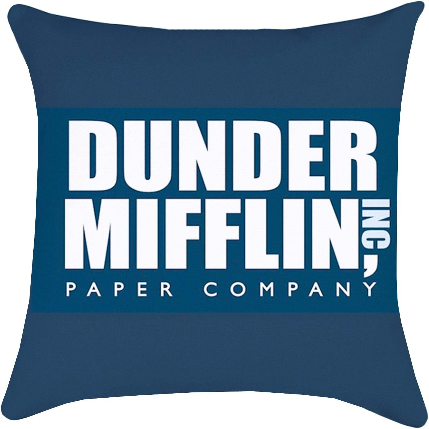 ZUEXT Office Merchandise Throw Pillow Covers 18x18 Inch Double Sided Design, Cotton Linen Funny Office Decorative Outdoor Cushion Cover Pillowcase for Sofa Couch Chair Home Decor(Dunder Mifflin)