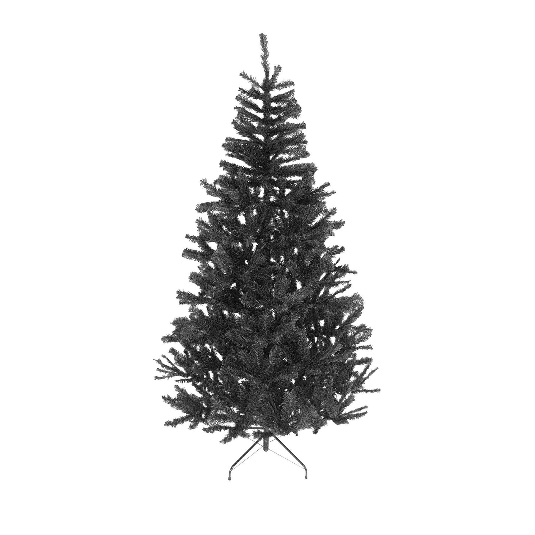 8ft Black Christmas Tree Imperial Tips Artificial Tree with Metal Stand