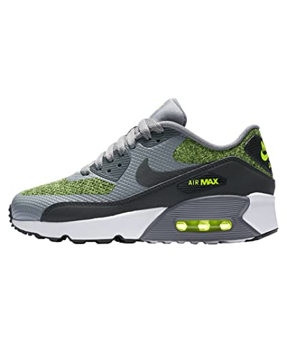 reputable site ab1e3 9fe32 Nike Air Max 90 Ultra 2.0 SE Cool Grey Anthracite-Volt (Big Kid