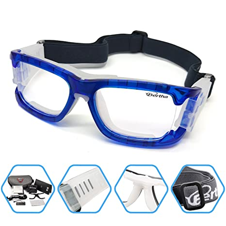 6f9b47dd6d Bertha Outdoors Safety Sports Goggles Protective Glasses for Basketball  Football Volleyball Baseball ect 1006 (Blue