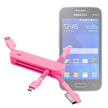 DURAGADGET Multi-Cargador Rosa para Smartphone Samsung ...
