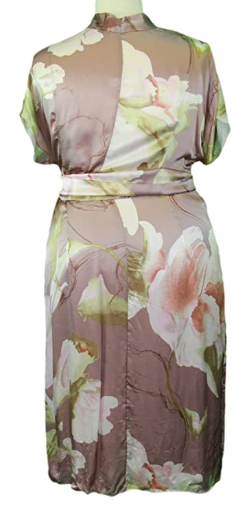 Marina Rinaldi by MaxMara Impiso Muave Floral Empire Waist Dress at Amazon Womens Clothing store: