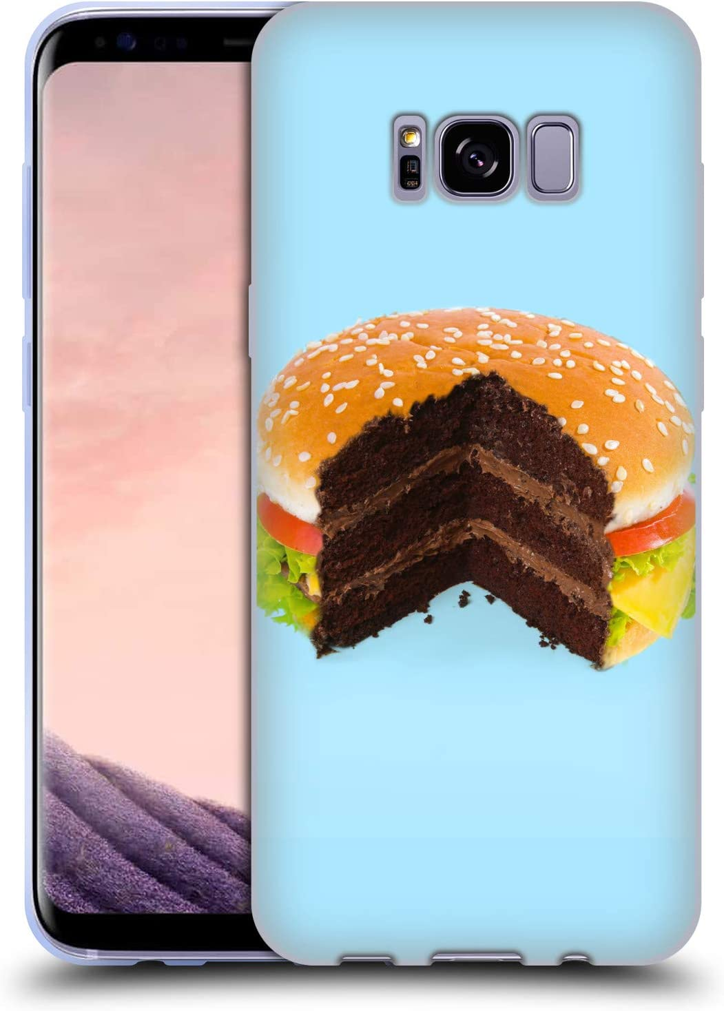 Head Case Designs Officially Licensed Paul Fuentes Hamburger Cake Junk Food Soft Gel Case Compatible with Samsung Galaxy S8+ / S8 Plus