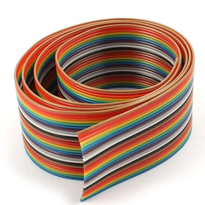 sourcingmap® conector del cable de cinta plana multicolor Paso de ...