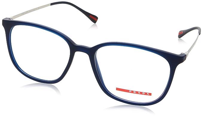 429a9a57a41 Prada Sport PS03IV Eyeglasses U631O1 Transparent Blue Rubber 52-17-140   Amazon.co.uk  Clothing