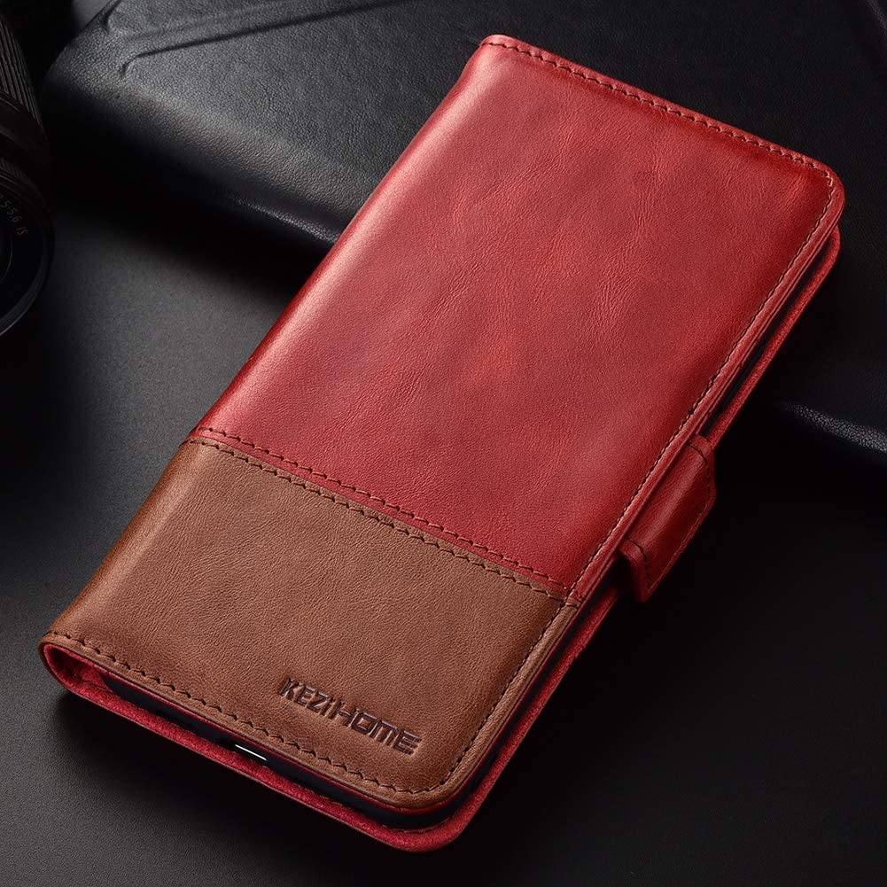 Genuine Leather OnePlus 8 Pro 5G Wallet Case RFID Blocking Credit Card Slot Flip Folio Magnetic Stand Case for OnePlus 8 Pro Black//Brown KEZiHOME OnePlus 8 Pro Case