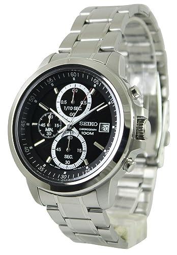 SEIKO Reloj Neo Sport Hombre Cronógrafo Plata - sks445p1: Amazon.es: Relojes
