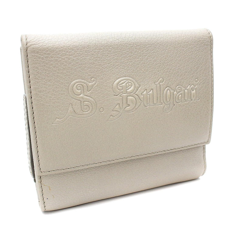 ブルガリ BVLGARI ソリティオ 三つ折り財布 ゴールド ユニセックス レザー [中古] B07D224SC3