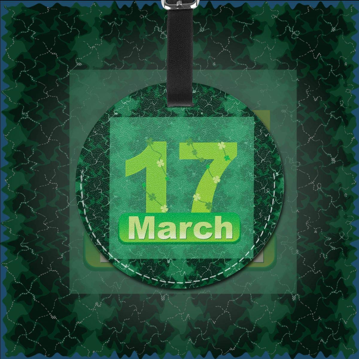 1pcs,2pcs,4pcs St Patricks Day March 17 Lucky To Have You Pu Leather Double Sides Print Round Luggage Tag Mutilple Packs