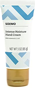 Amazon Brand - Solimo Intense Moisture Hand Cream with Vitamins B, C & E, 3 Ounce