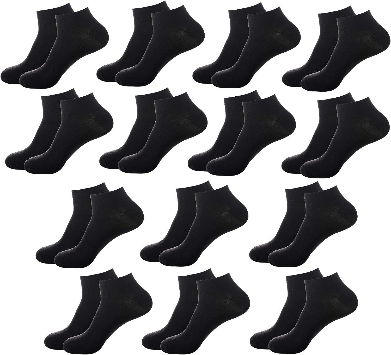 Sport d/étente loisirs lot de paires de chaussettes invisible uni respirante Tige courte noire et blanche