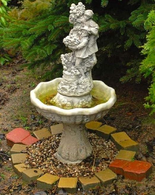 Casa Padrino Fuente de Jardín Art Nouveau Niños y Uvas Gris Ø 46 x ...