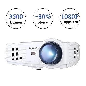 Proyección, WiMiUS T4 Upgraded 3500 Lúmenes Videoproyector Full HD ...