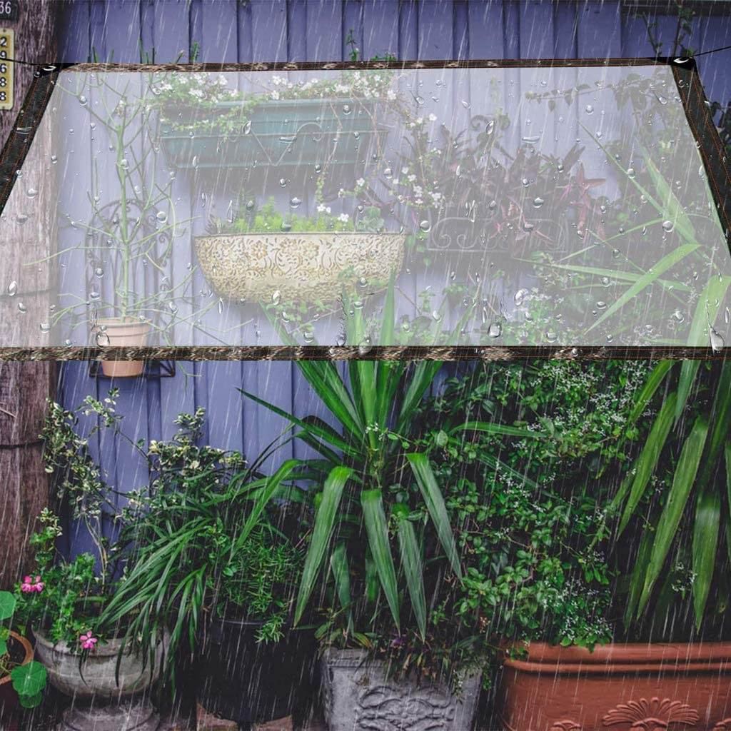 Patio for Roof Tarps with Grommets 3x3 Outdoor Rain or Sun Dustproof Rainproof Tarpaulin Sheet Ground Sheet Tarpaulin Cover Clear Waterproof Cover Tarp