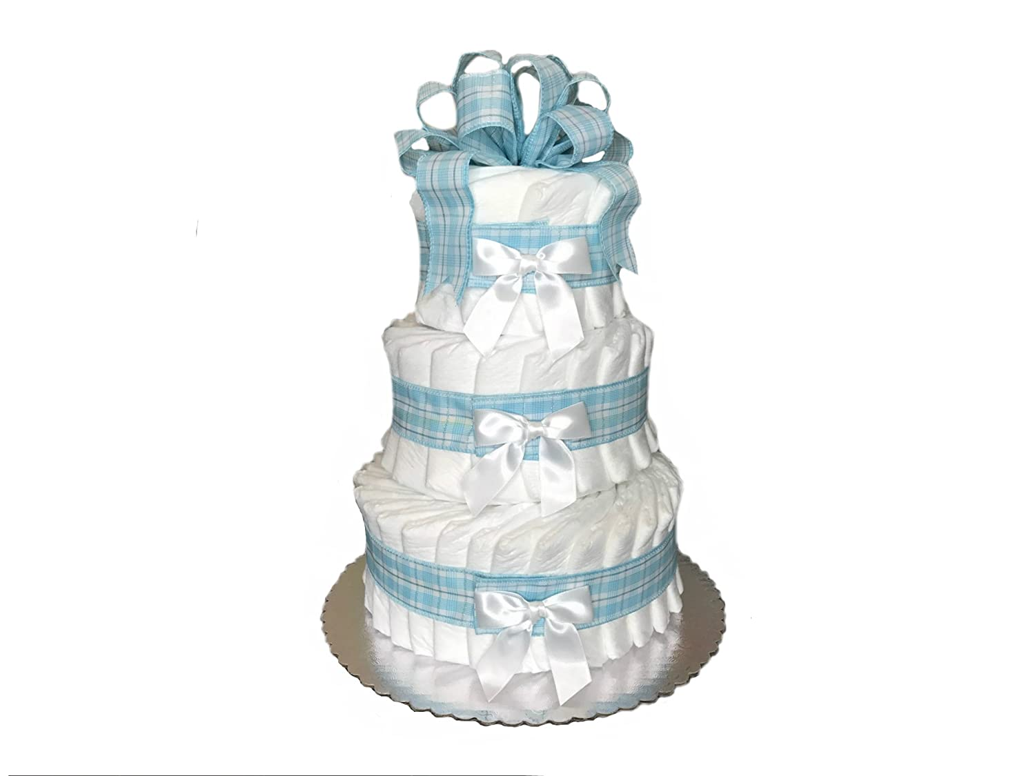 Amazon Com Classic Pastel Baby Shower Diaper Cake Tier Blue