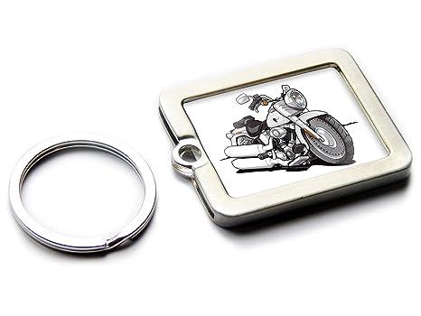 Koolart - Llavero oficial de Harley Davidson Fatboy, metal ...