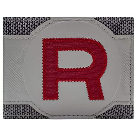 Cartera de Pokemon Team Rocket rojo cosido Gris