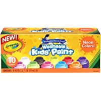 Crayola Washable Kid's Neon Paint Set, 2 Ounce