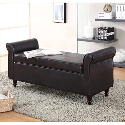 Awesome Milton Greens Stars 7071 Br Kassel 49 Inch Bonded Leather Ottoman With Armrests Brown Storage Bench Espresso Frankydiablos Diy Chair Ideas Frankydiabloscom