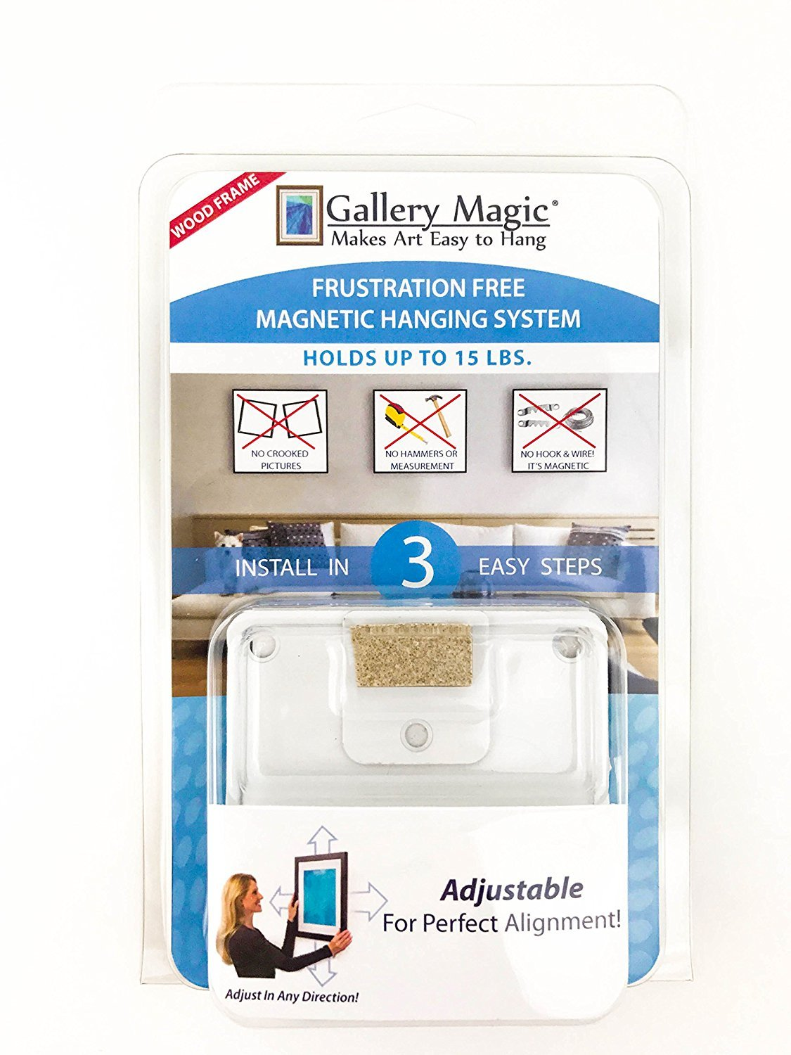 Gallery Magic Adjustable Magnetic Picture Hanging Hardware Kit ...
