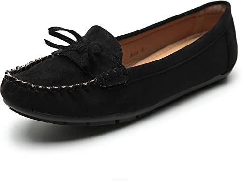 Women Slip On Flat Loafer Shoes Comfy Padded Insole Casual Moccasins Size