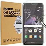 [2 Pack] Huawei P8 Lite 2017 Pellicola Protettiva, Rusee Pellicola Protettiva in Vetro Temperato Protezione Dello Schermo Protettore Glass Screen Protector Film per Huawei P8 Lite 2017 - Trasparenza ad alta definizione, Anti-riflesso, Anti-Bolla, Durezza 9H, Bordi Arrotondati da 2.5D