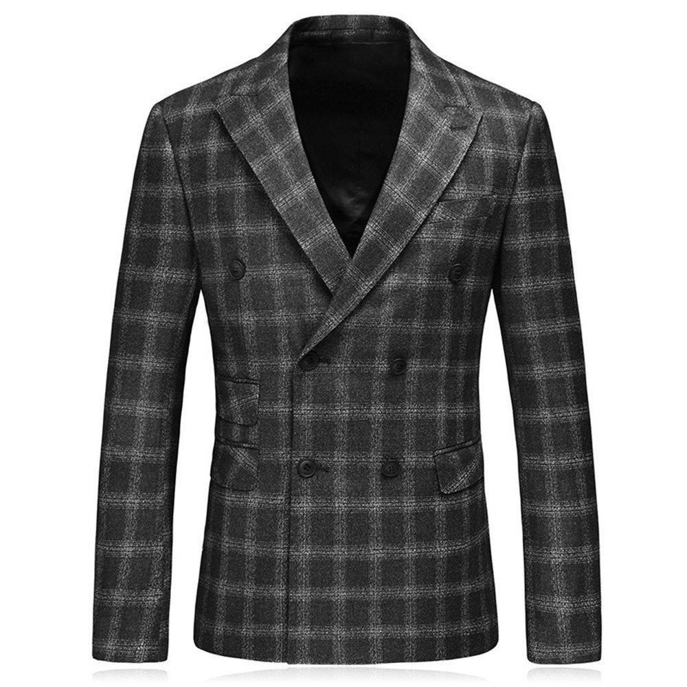 Anzug passt, Herbst und Winter männer anzüge, modisch groß anzüge, kostüme, Hosen, Zwei anzüge, größe, Bitte anmerkung,schwarz,60   The
