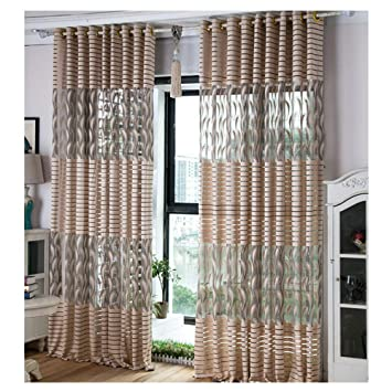 Amazon.com : Striped Feather Curtains, Calico Curtain ...