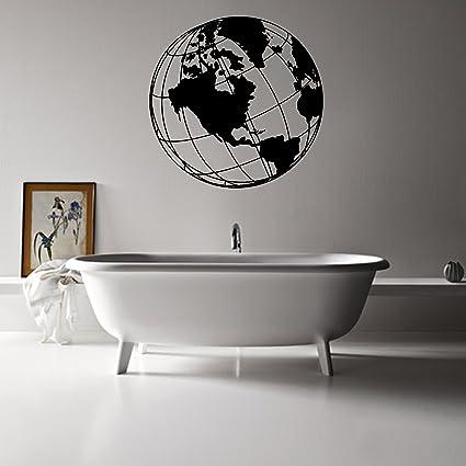 Amazon.com: The Globe Wall Art Vinyl World Globe Decal Sticker ...