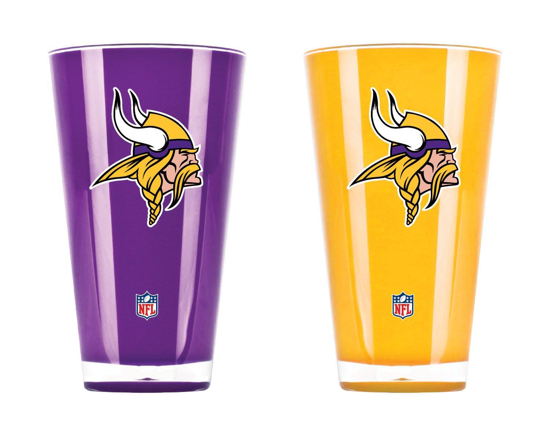 NFL Minnesota Vikings 20oz Insulated Acrylic Tumbler Set of 2