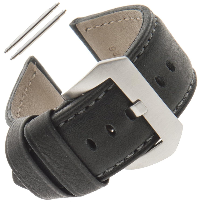 Gilden 22 – 26 mmメンズ用水panerai-style時計ストラップwrpan 22 millimeter end width ブラック  ブラック 22 millimeter end width B07CTHDKBH