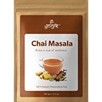 Go-Yogik Chai Tea Masala (80 servings)-100g/3.5Oz   Spice blend of Ginger, Cardamom, Organic: Ceylon Cinnamon, Black…