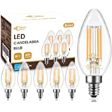 Dimmable B11 LED Chandelier Light Bulbs 60W Equivalent, DORESshop 6W Vintage Edison LED Filament Candle Bulbs for…