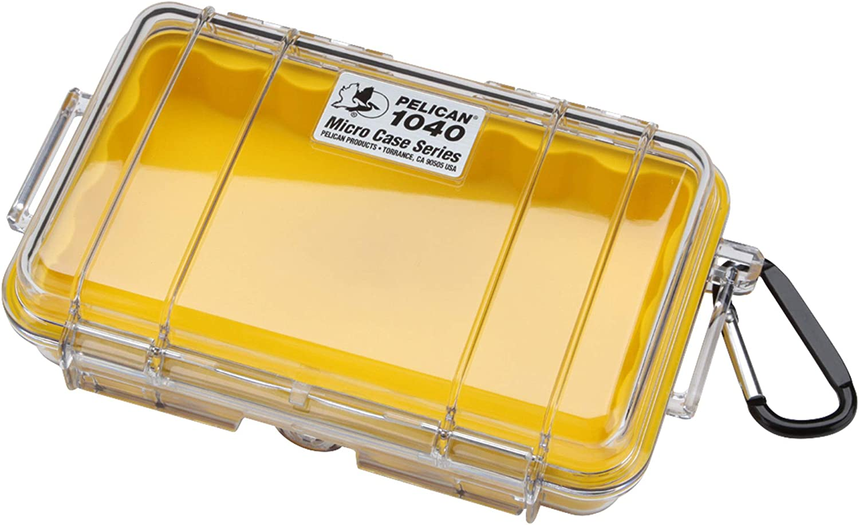no brand Pelican (Pelican) Small Waterproof Hard Case 1040HK Yellow / Clear 1040HKYLCR 0.5L: Amazon.es: Electrónica