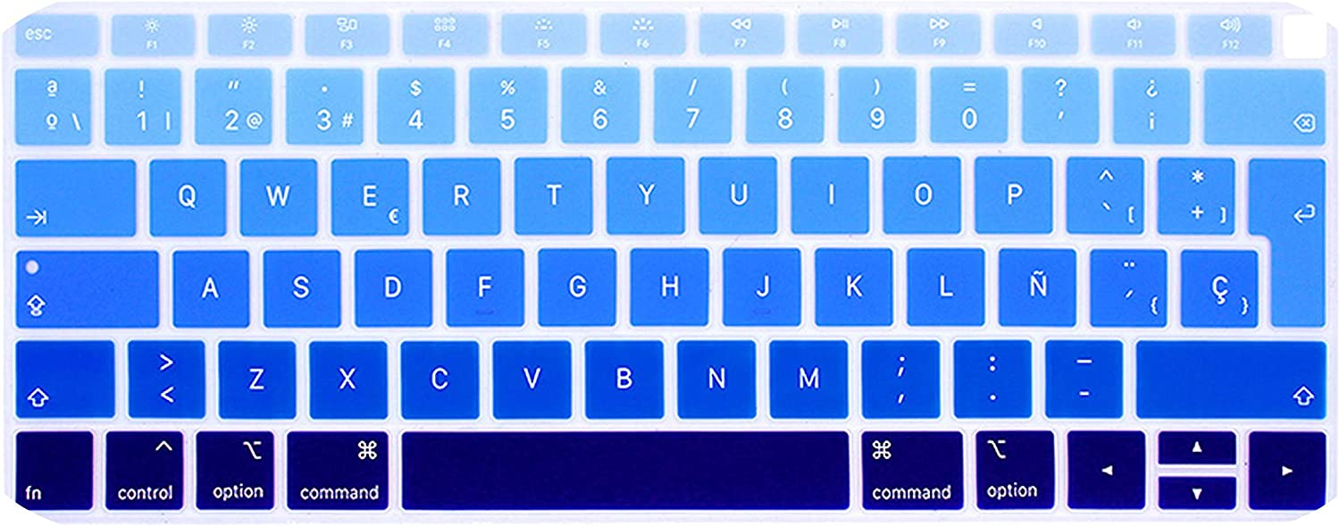 Spanish Chile Laptop Keyboard Cover for MacBook air 13 EU Keyboard Cover Color Protective Film Display Spain Language-Multi
